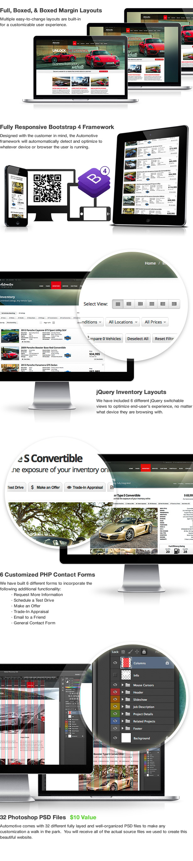 Automotive Template Features