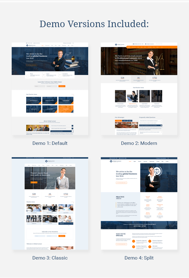 Law Firm HTML Template Demos